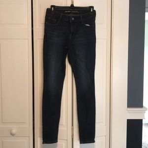 Old Navy, mid-rise skinny jeans